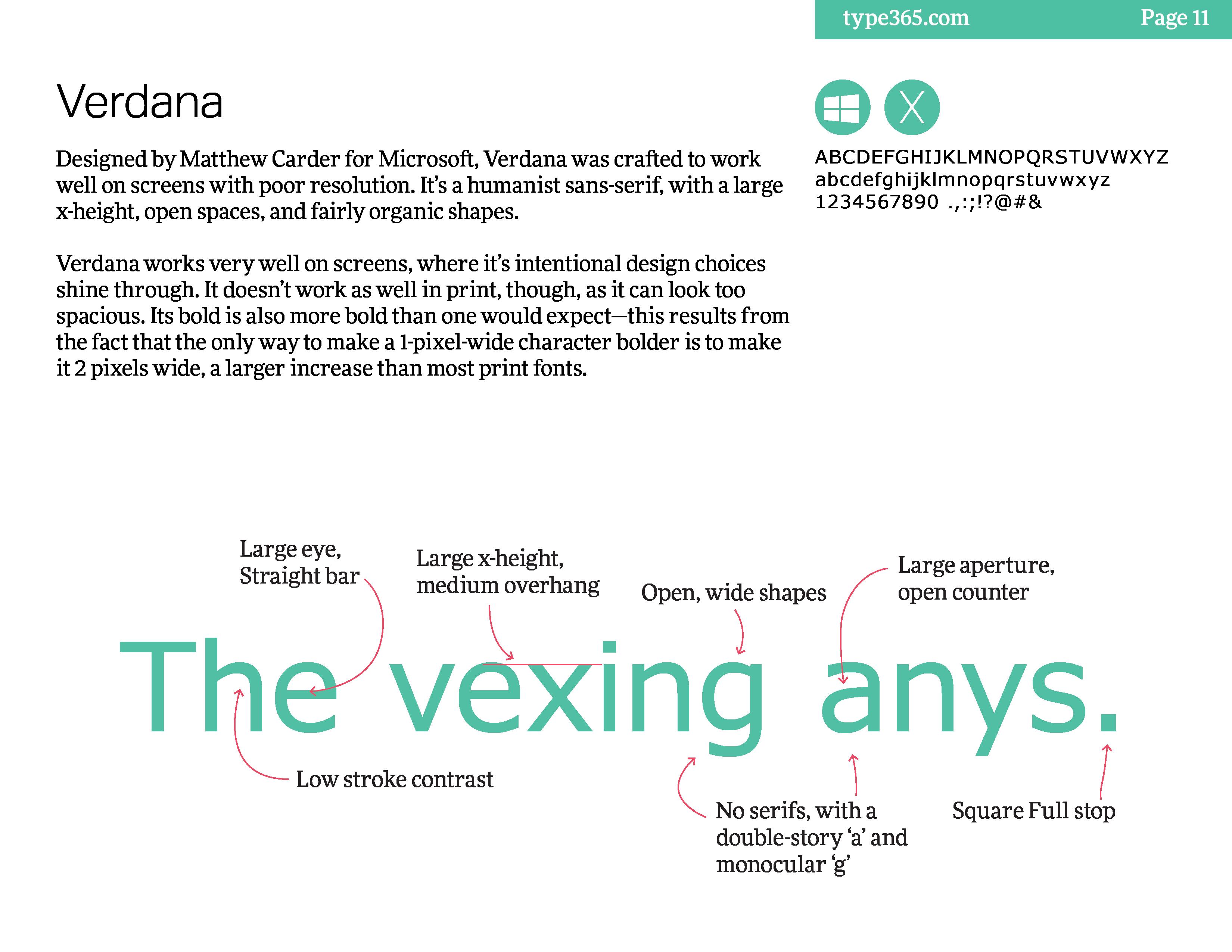 Verdana - 9 Best System Fonts